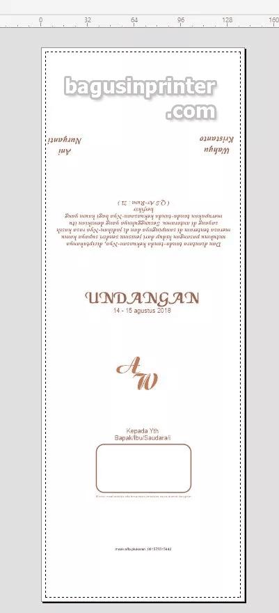 Contoh cetak blanko undangan