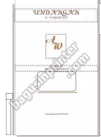 Desain blanko undangan