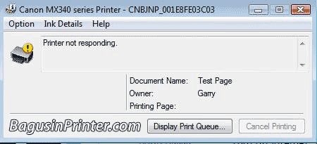 Masalah Printer Not Responding, Not Available dan Not Ready