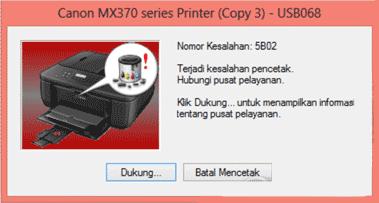 Canon MX377 Error 5b02