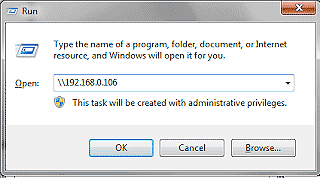 Ketikkan ip komputer server