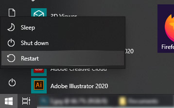 Restart komputer Windows 10