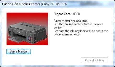 Support Code Reset Printer G1000