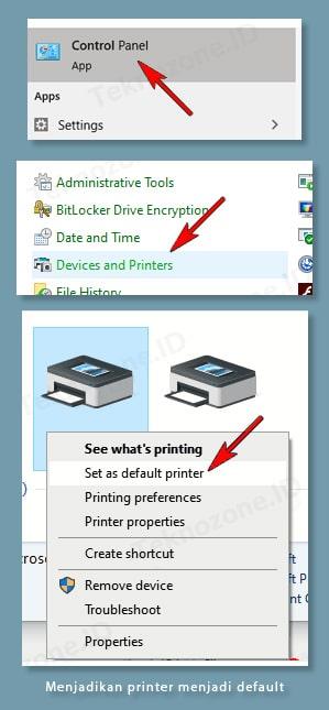 Mengecek Apakah Printer Sudah Terhubung
