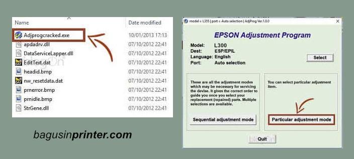 Reset Epson L300
